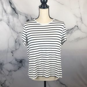 H&M stripe short sleeve shirt